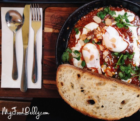 Lamb Cassoulet with poached eggs and sourdough