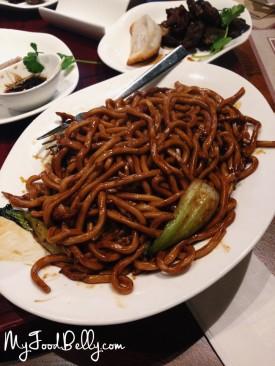 Shanghai stir-fried noodles with pork and vegetables ($11)