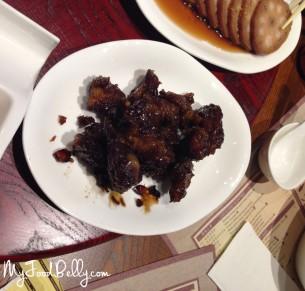 Rock sugar and black vinegar pork ribs ($6.50)