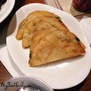 Spring onion pancakes ($7 for 2)