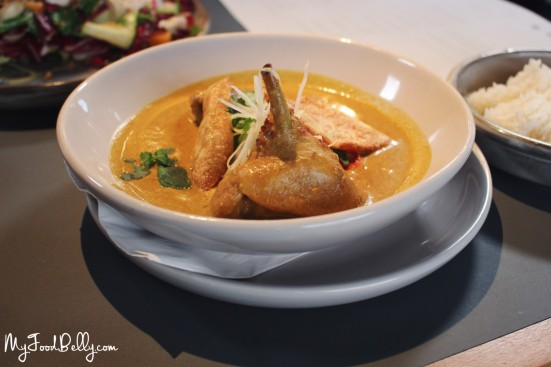 Roasted yellow duck curry with jasmine rice ($24) - Coda