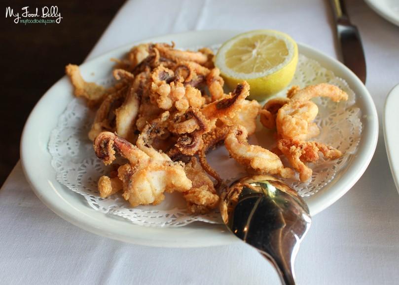 Deep fried squid legs (€12,00)