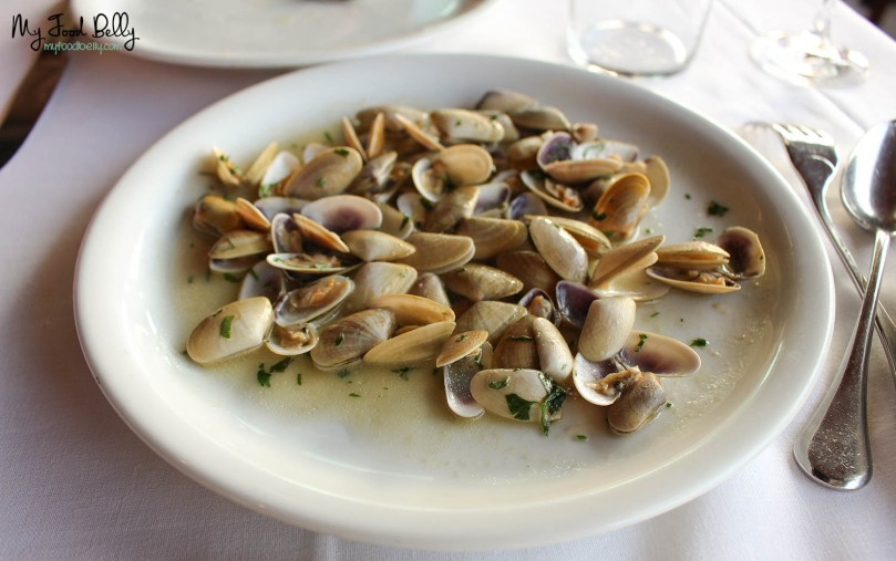 Small clams done our own way (€15,40)