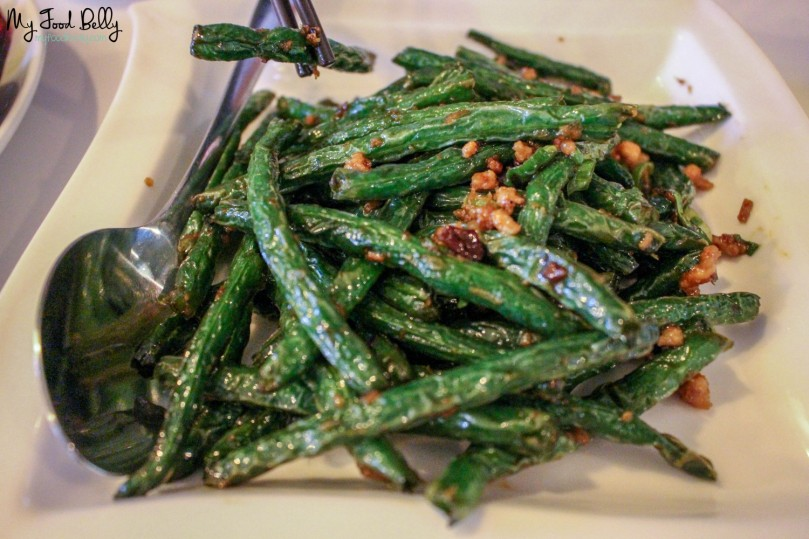 Green bean with minced pork ($15.80)